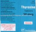 Thyroxine (T4 )Tabs 50mcg x 100 tabs